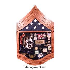Morgan House Air Force CMSgt Shadow Box