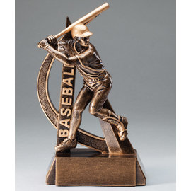 Resin Ultra Action Baseball Trophy 8""