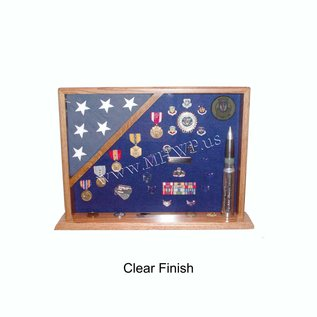 Morgan House MSB-01 Shadow Box with flag in corner