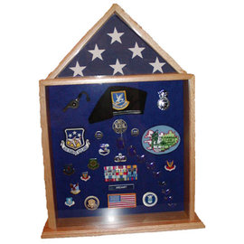 Morgan House Large Shadow Box and Flag Display