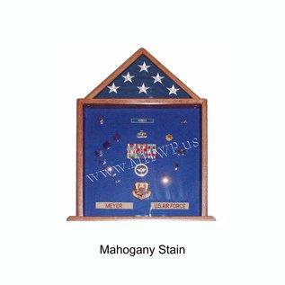 Morgan House Large Shadow Box and Flag Display