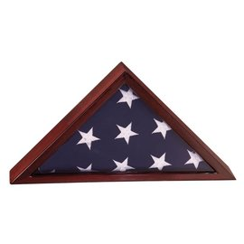 Rosewood Piano Finish Flag Case 3'x 5' Flag - Elm Wood