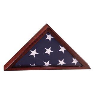 Rosewood Piano Finish Flag Case 3'x 5' Flag - Elm Wood