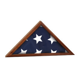 Genuine Walnut Flag Display Case - 3' x 5' Flag Size