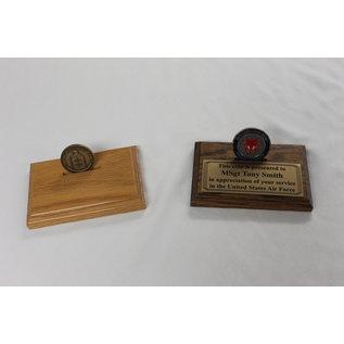 Morgan House MCD-01-O - Single Coin Flat Oak Display