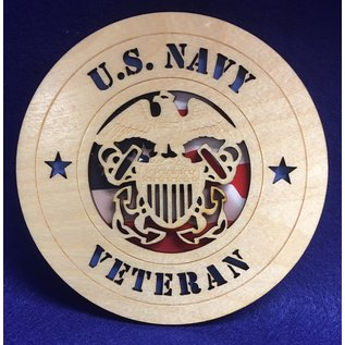 "Morgan House US Navy Veteran Medium Hanging wall tribute  with picture, 5.75"" circle area..."