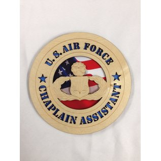 """Morgan House Chaplain Assistant Medium Hanging wall tribute with picture underneath cutout area, 5.75"""" circle area..."""