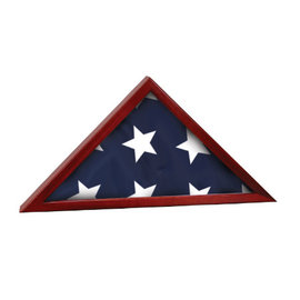 Rosewood Piano Finish Poplar Wood Flag Case 3'x 5' Flag