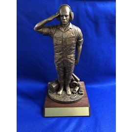 Morgan House Male Flightline Maintainer..Height 17-1/2 inches with base.