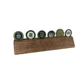 Morgan House Oak Desk Wedge with Coin Groove