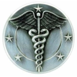 "Resin Caduceus Plaque Mount  - 5"" Diameter"
