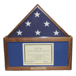 Morgan House 5'x9' Flag Case with Memorabilia Box