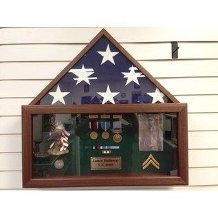 Morgan House 5'x9' Flag Case with Memorabilia Box