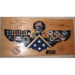Morgan House Officer Wings Shadow Box