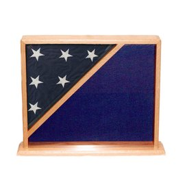 Morgan House Shadow Box with 5x8 flag in corner