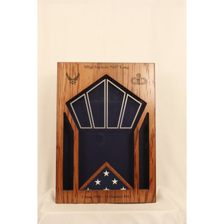 Morgan House MSB-CONTWR Shadow Box in the shape of a Control Tower..3x5 Flag Area