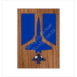 Morgan House Shadow Box in the shape of a T-38 Talon or  F-5