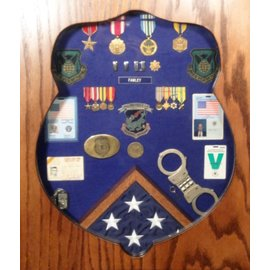 Morgan House OSI Badge Shadow Box