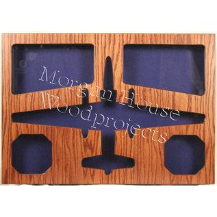 Morgan House Shadow Box in the shape of a U2 Aircraft..3x5 Flag area