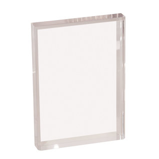 5  x 7  Clear Rectangle Acrylic Bevel on Front and Back