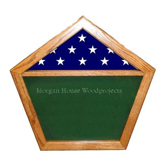Morgan House Shadow box in the shape of the Pentagon