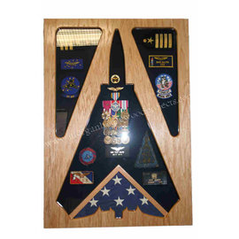 Morgan House Shadow Box in the shape of a F-14..3x5 Flag area