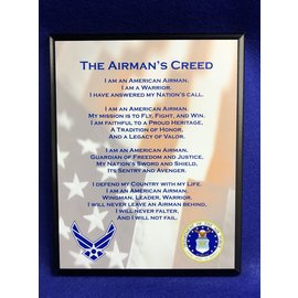 8 x 10 Airman Creed Plaque