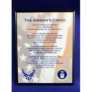 8 x 10 Airman Creed Plaque - Full Color