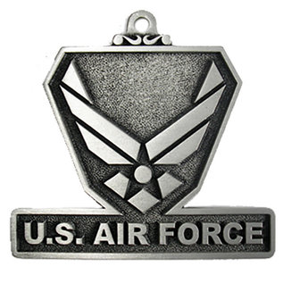 US Air Force Pewter Holiday Ornament