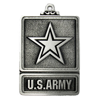 US Army Pewter Holiday Ornament