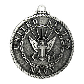 US Navy Pewter Holiday Ornament
