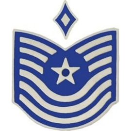 Air Force E7 First Sergeant Chevron Pin old style