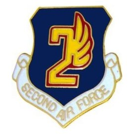 2nd Air Force Pin (1 inch)