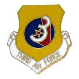 3rd Air Force Pin (1 inch)