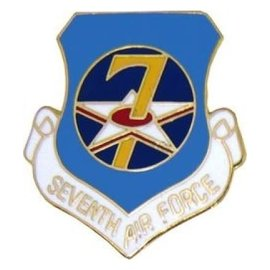 7th Air Force Pin (1 inch)