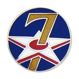 7th Air Force Pin (3/4 inch)