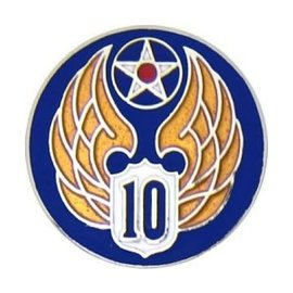 10th Air Force Pin (3/4 inch)