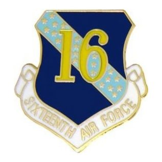 16th Air Force Pin (1 inch)