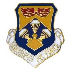 18th Air Force Pin (1 inch)