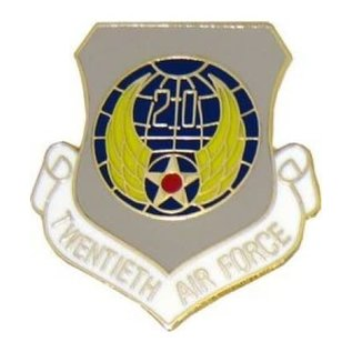20th Air Force Pin (1 inch)