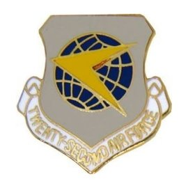 22nd Air Force Pin (1 inch)