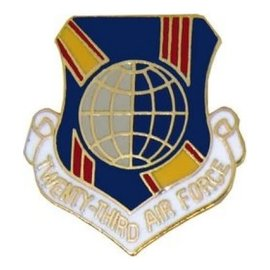 23rd Air Force Pin (1 inch)
