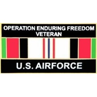Operation Enduring Freedom Veteran United States Air Force with Ribbon Pin - 14552 (1 1/4 inch)