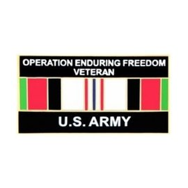 Operation Enduring Freedom Veteran United States Army with Ribbon Pin - 14551 (1 1/4 inch)