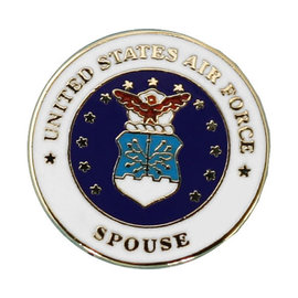"Air Force Spouse with AF Seal Pin PI00024 (7/8"")"