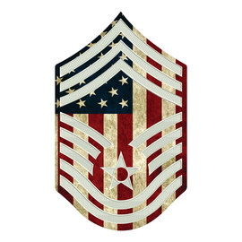 Morgan House AIR FORCE Chevron Wall Hanging - Printed Stripes