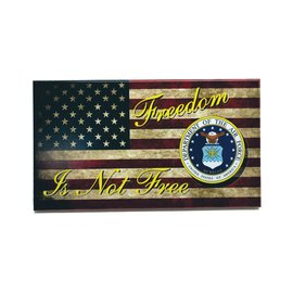 Morgan House Distressed Flag Wall Hanging - Military Branch / Firefighter Logo