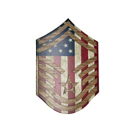 Morgan House Chevron Wall Hanging - Air Force Raised Stripes