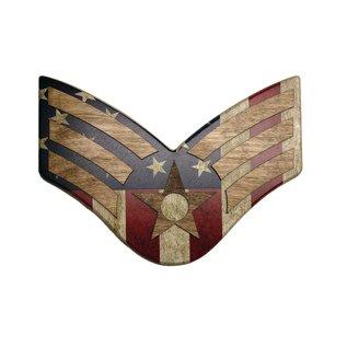 Morgan House Chevron Wall Hanging - Air Force Raised Stripes