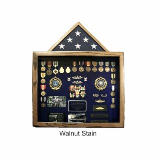 "Morgan House MSB-08 Shadow Box - 24"" x 20"" with flag on top  The Dawg House..Available in Landscape or Portrait Orientation"